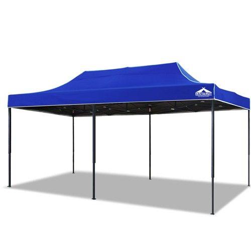 3m X 6m Pop Up Gazebo Garden Canopy Outdoor Marquee Blue Canopy Outdoor Gazebo Garden Canopy