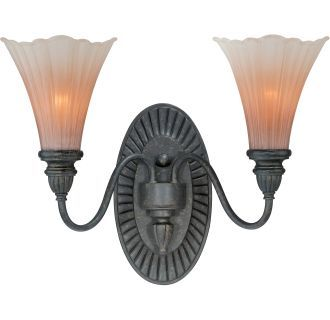 Photo of Vaxcel Lighting W0109 Walnut Patina Lily 2 Light Bathroom Vanity Light – 8 Inches Wide – LightingDirect.com