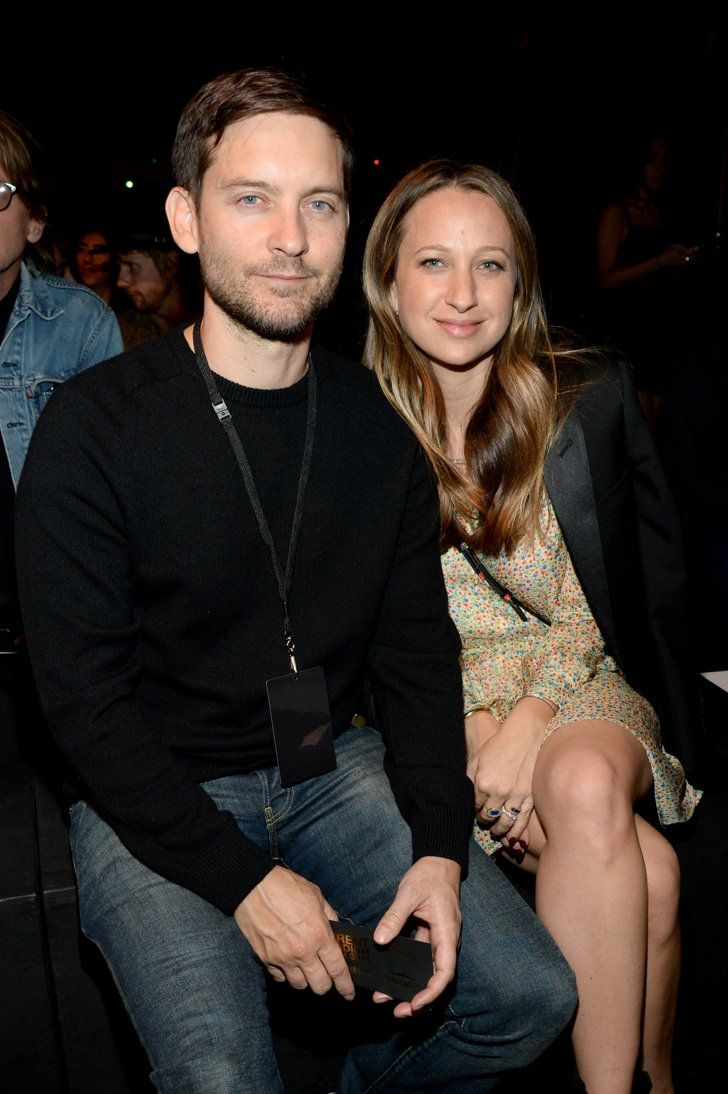 Pin for Later: Saint Laurent kriegt sie alle: Die Promis strömen zur Fashion Show nach LA Tobey Maguire und Jennifer Meyer