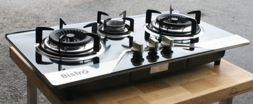 Propane Gas Range Stove Built In Counter Top 3 Burner Cooktop