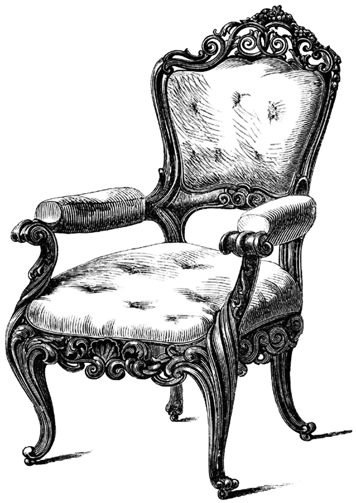Antique chair silhouette - Tons Of Free Yummy Vintage Furniture Printables To Use For All Of Your Crafty Projects