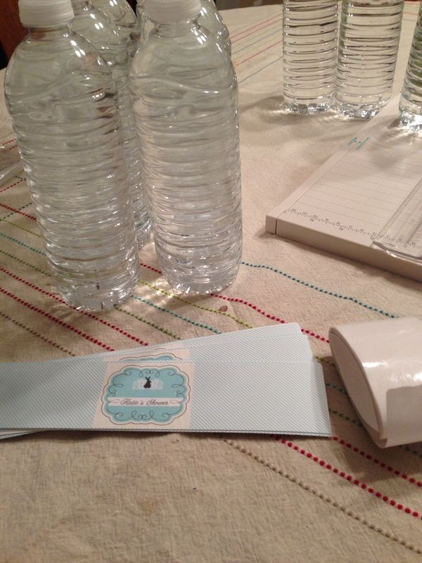 Baby Shower Water Bottle Labels (free template- publisher file)