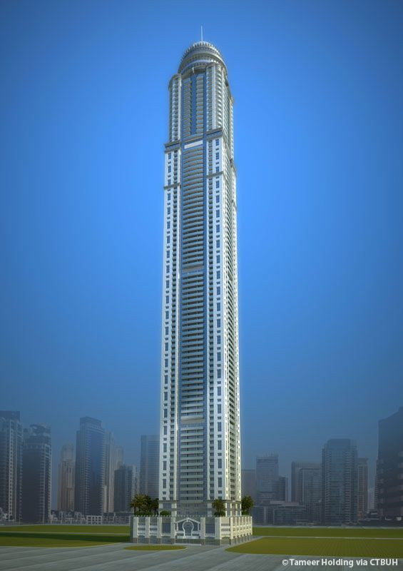 Tallest residential building in dubai princess tower
