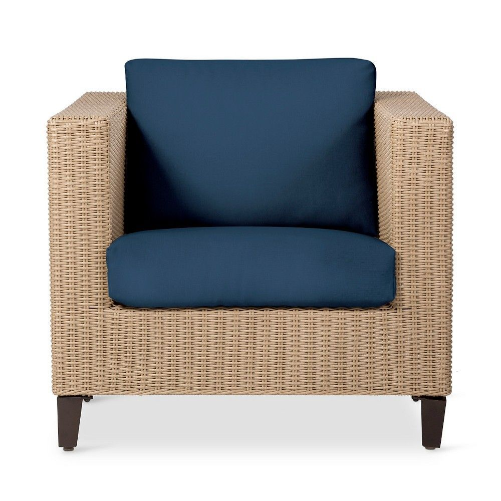 Fullerton Wicker Patio Club Chair Navy Blue Threshold