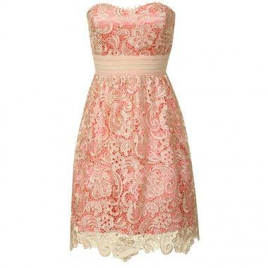 Coral Lace Bridesmaid Dresses - Missy Dress