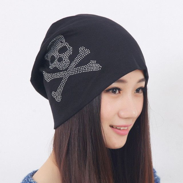 1155871e11e girl beauty beanie designer customized novelty winter hats for women bling  crystal pattern casual skullies hat