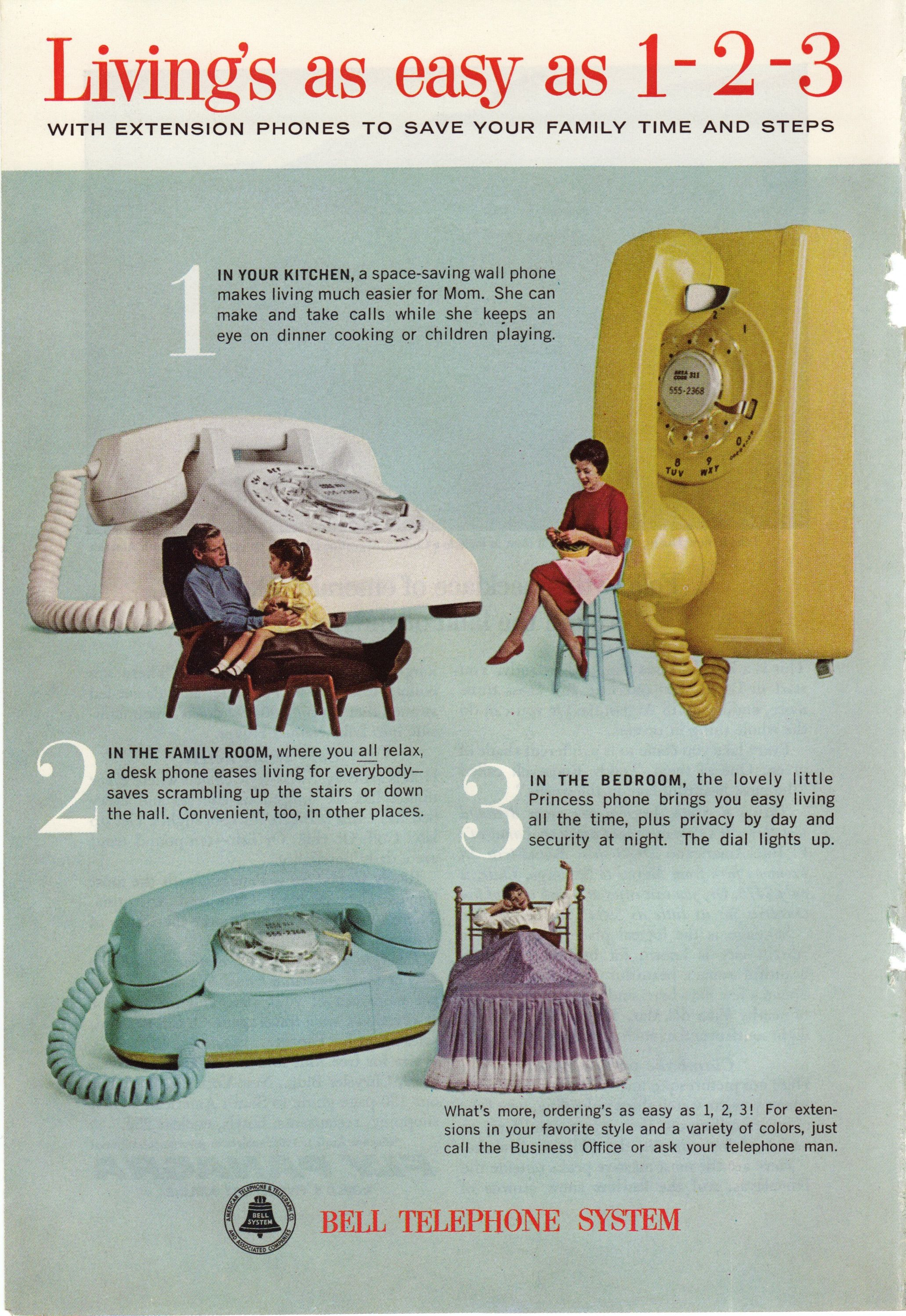 1963 Bell. Love how the kitchen phone is just for Mom. THEY WERE ...