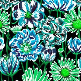Seamless Daisy Pattern by Eduardo Doreni Seamless Repeat  Royalty-Free Stock Pattern