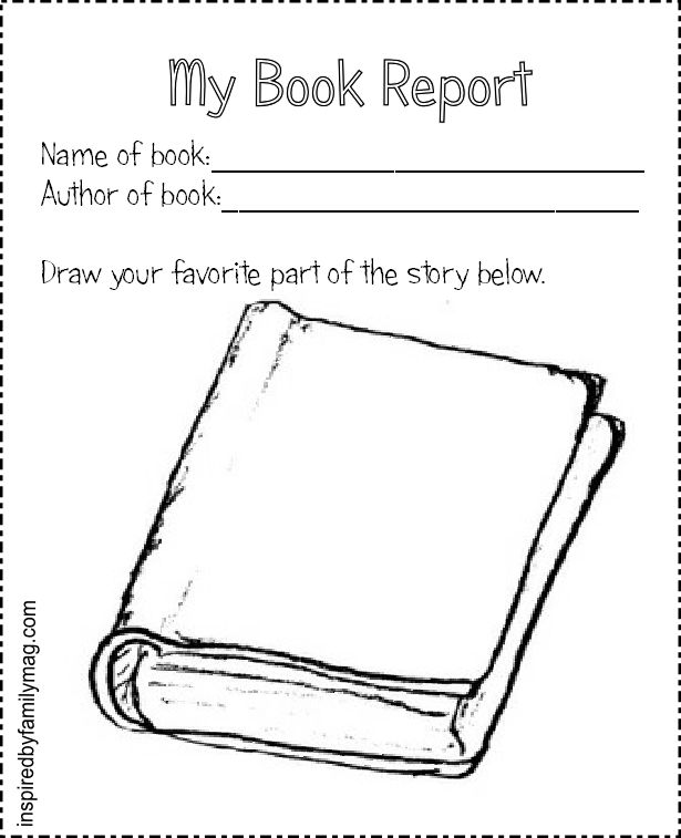 Printable Book Report Forms Elementary  Books Library Lessons