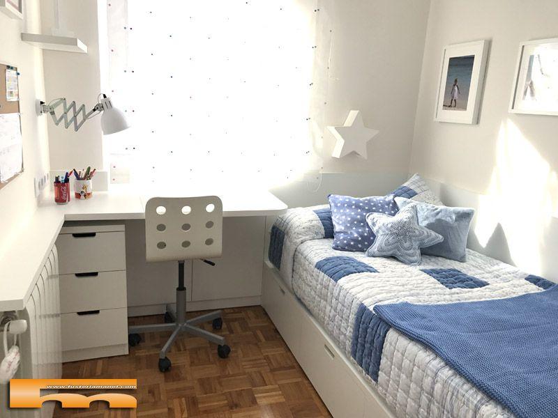 Decoracion habitacion infatil peque a cama cajones delia barcelona habitaciones infantiles - Decoracion habitacion infantil pequena ...