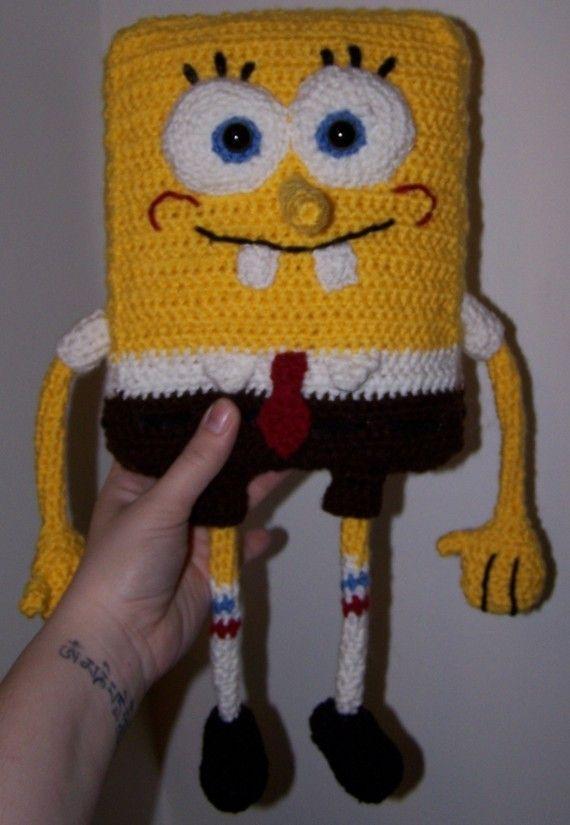 Crocheted Spongebob Squarepants Pattern | Mochilas, Descansando y ...
