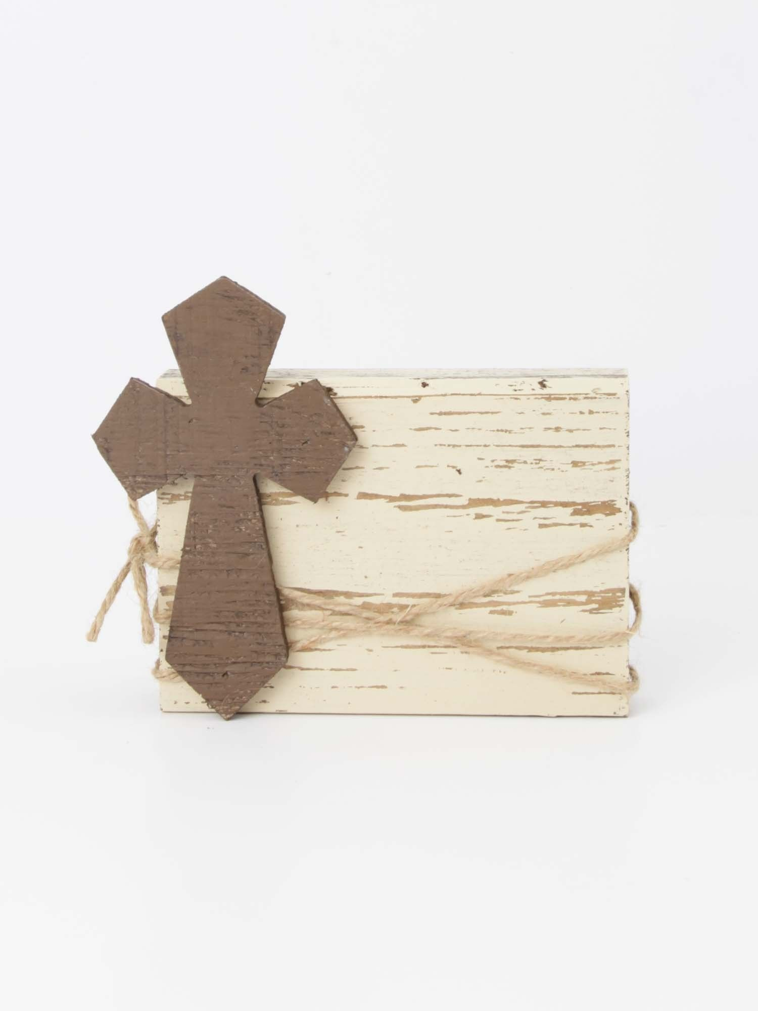 Wooden Brown Cross Block Frame