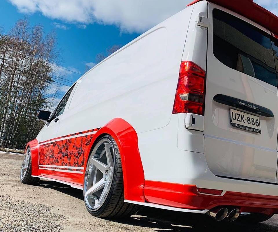 Vito Planc Widebody Mercedes Vito On Ferrada Wheels Mit Bildern