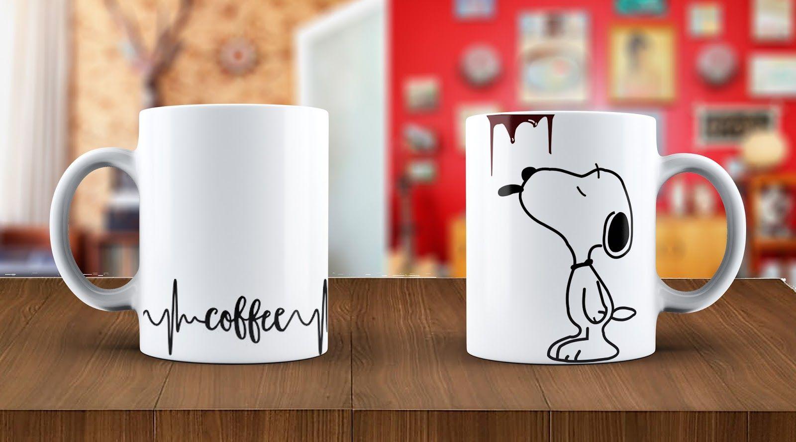 Una plantilla de Snoopy sencilla para tazas 2103414d97dc