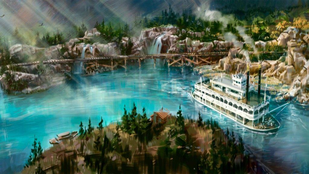 Rivers of America Disneyland California