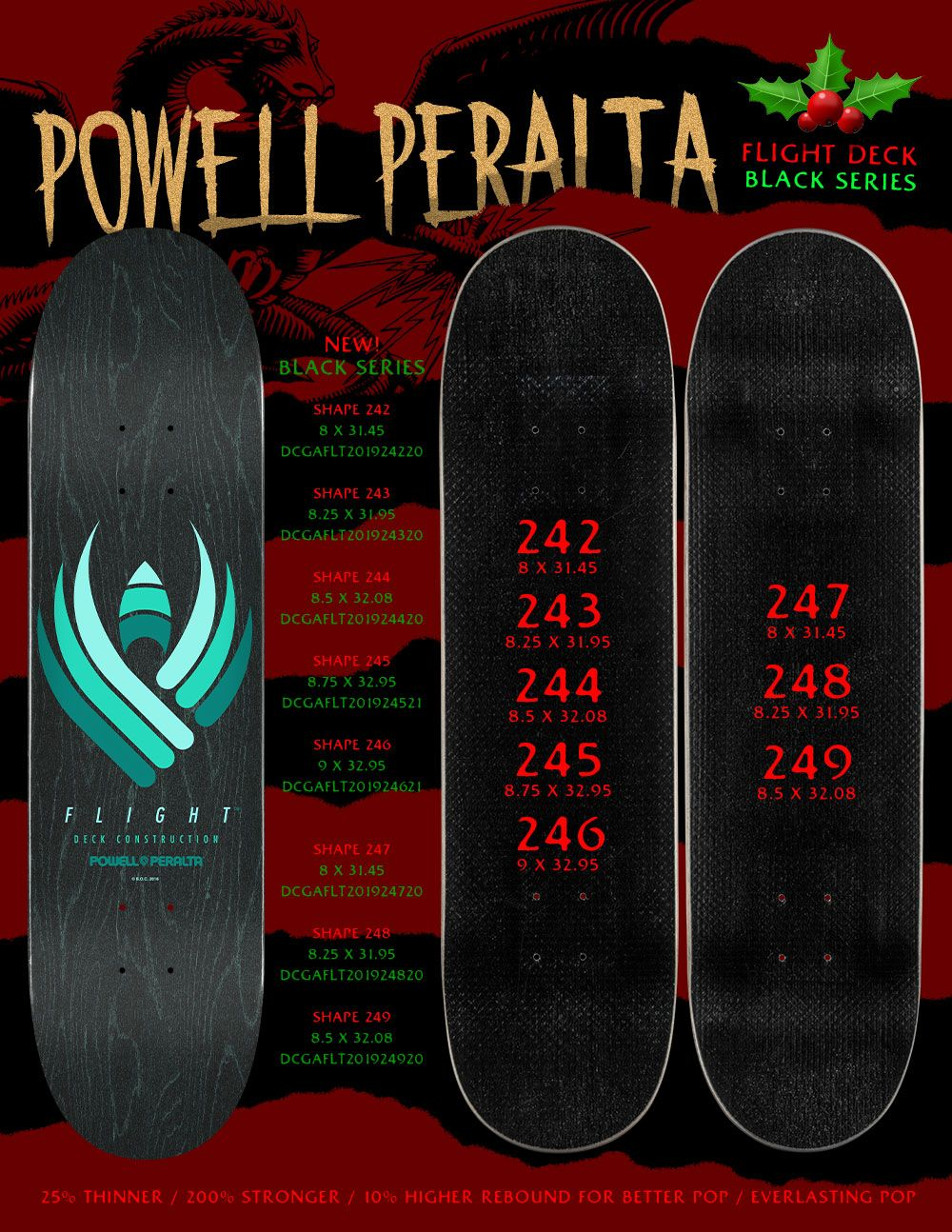 Powell Peralta Flight Deck Black Series Flight Deck Deck Powell Peralta
