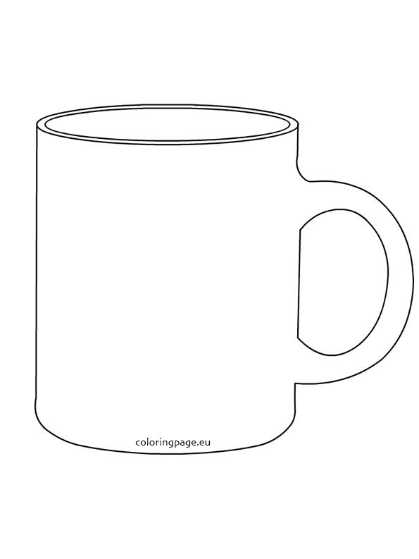 Coffee Mug Template Mug Template Free Stencils Mug Drawing