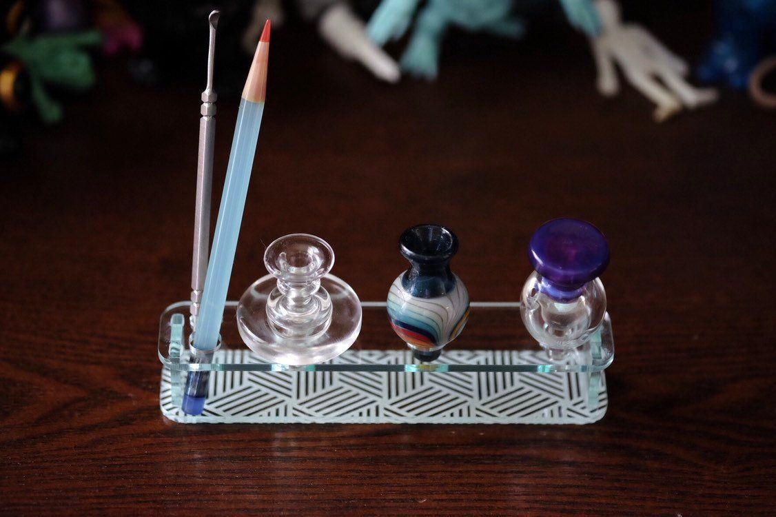 Bubble Cap And Dabber Holder Bubbles Holder