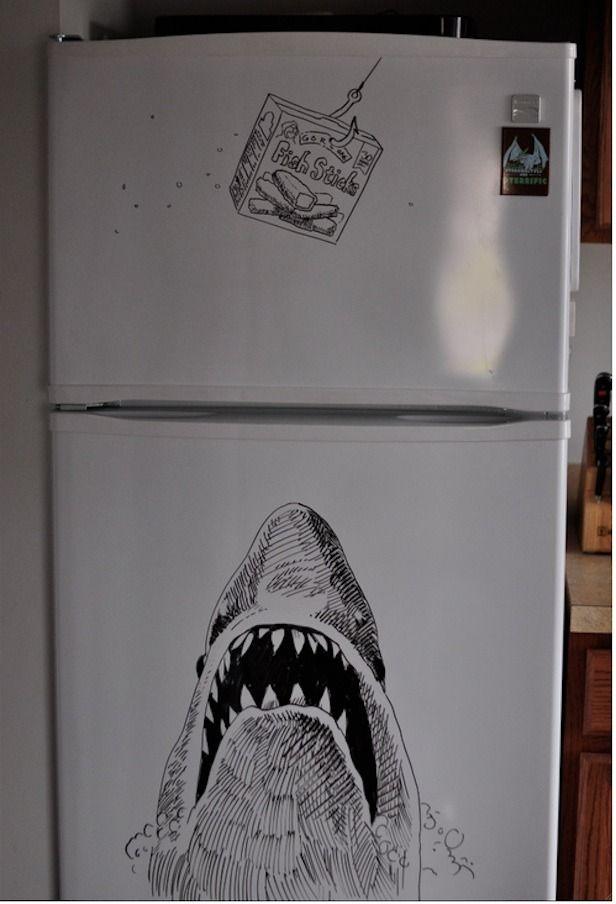 Awesome Fridge Art From Philadelphia Dry Erase Board Art Whiteboard Art Dry Erase Board Drawings
