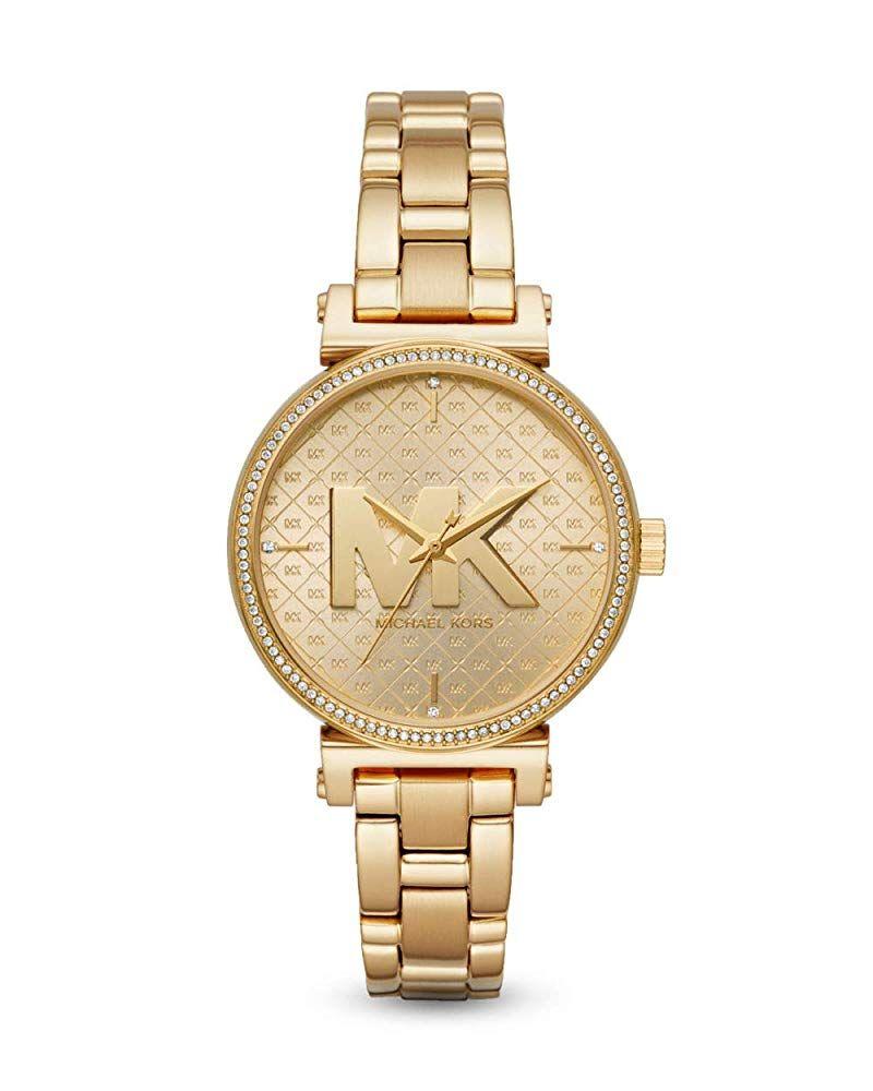 Michael Kors Damen Analog Quarz Uhr Mit Edelstahl Armband Mk4334 203 86 4 5 Von 5 Sternen Damen Uhren 2019 Damenuhren Armbanduhr Edelstahl Armband
