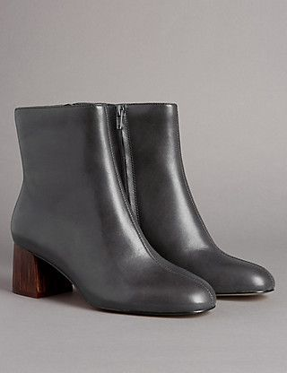 Mid Heel Ankle Boots with Insolia® | M&S