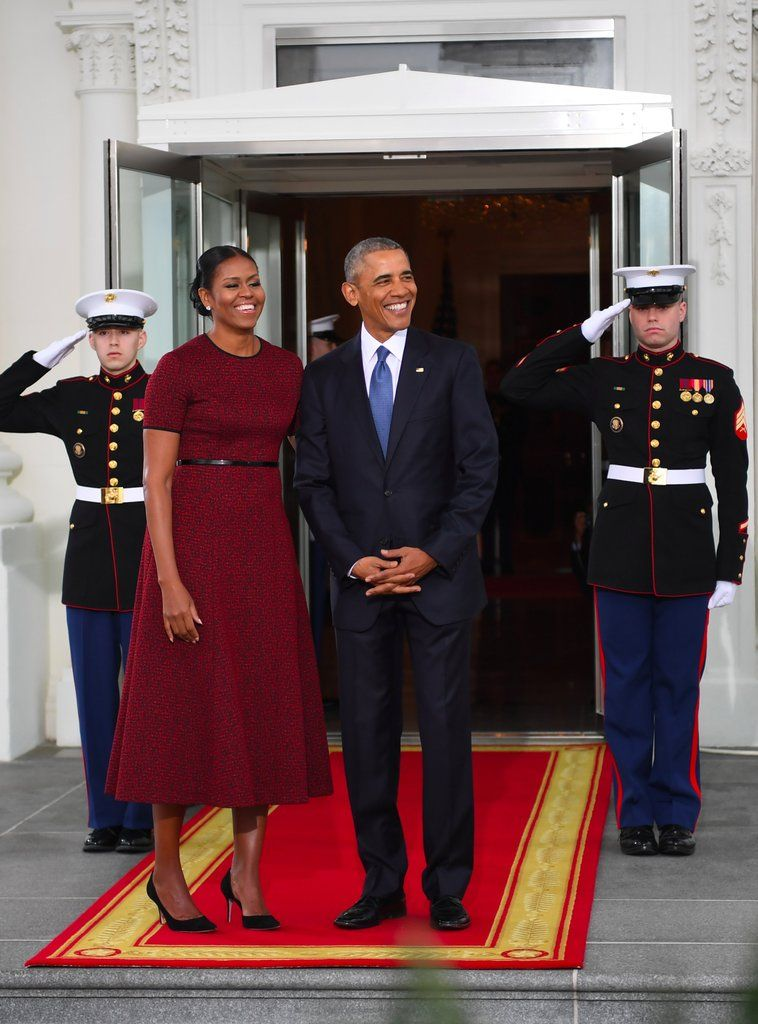 This Might Be the Most Powerful Red Dress Michelle Obama's Ever Worn