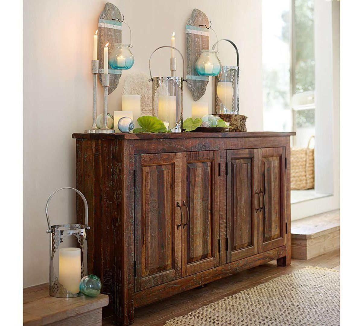 Pottery Barn Bowry Reclaimed Wood Media Console Favorites