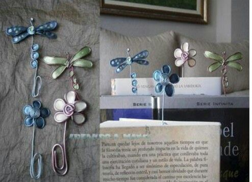 Separadores de libros con forma de libélula