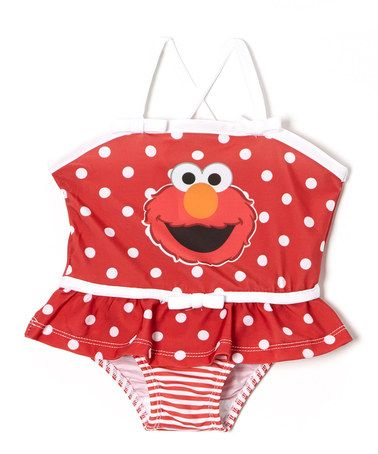 2f63359a67 Another great find on  zulily! Red Polka Dot   Stripe Elmo Skirted ...