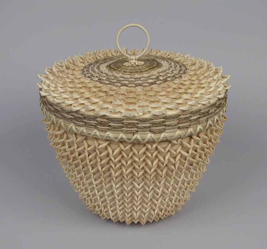 Fancy point basket by Max Sanipass Romero, Mi'kmaq/ Taos & Laguna Pueblo | by Abbe Museum