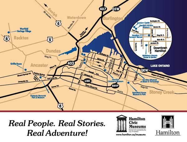 Museum Map of Hamilton HamOnt Tourism travel Cool Maps of