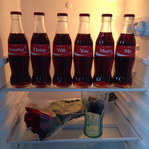 This Coca Cola Proposal Is Too Cute For Words Proposals Coca Cola