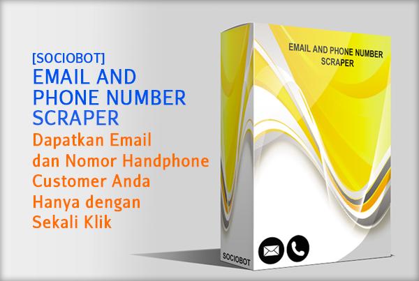 Email & Phone Number Scraper adalah tools berbasis dekstop