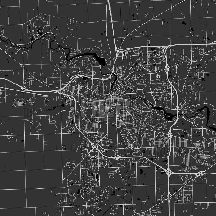 Ann Arbor Michigan Area Map Dark Ann arbor Arbors and Ui ux