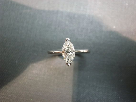 Engagement Diamond Ring with 0.70ct Marquise by honngaijewelry