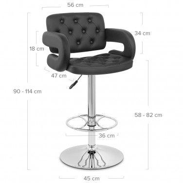 Polaris Bar Stool Black Bar Stools Chair Style Chesterfield Style Armchair