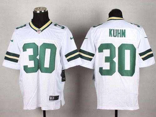 90e3b8f96e8 Nike Green Bay Packers  30 John Kuhn White Elite Jersey
