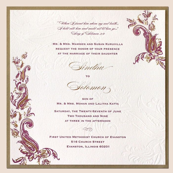 Latest Indian Wedding Invitation Card Designs