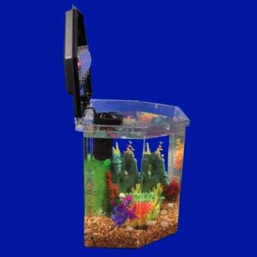 Aqua Culture 6 5 Gal Semi Hex Aquarium Full Kit Filter Led Light