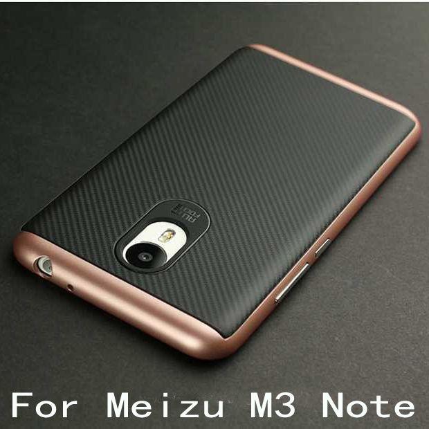Caso híbrido de lujo para meizu m3 note duro de silicona protectora de la contraportada para meizu m3 note cáscara del teléfono