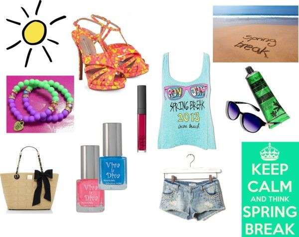 """""""Spring Break.... Lots of Colors"""" by iloveseals78 ❤ liked on Polyvore"""