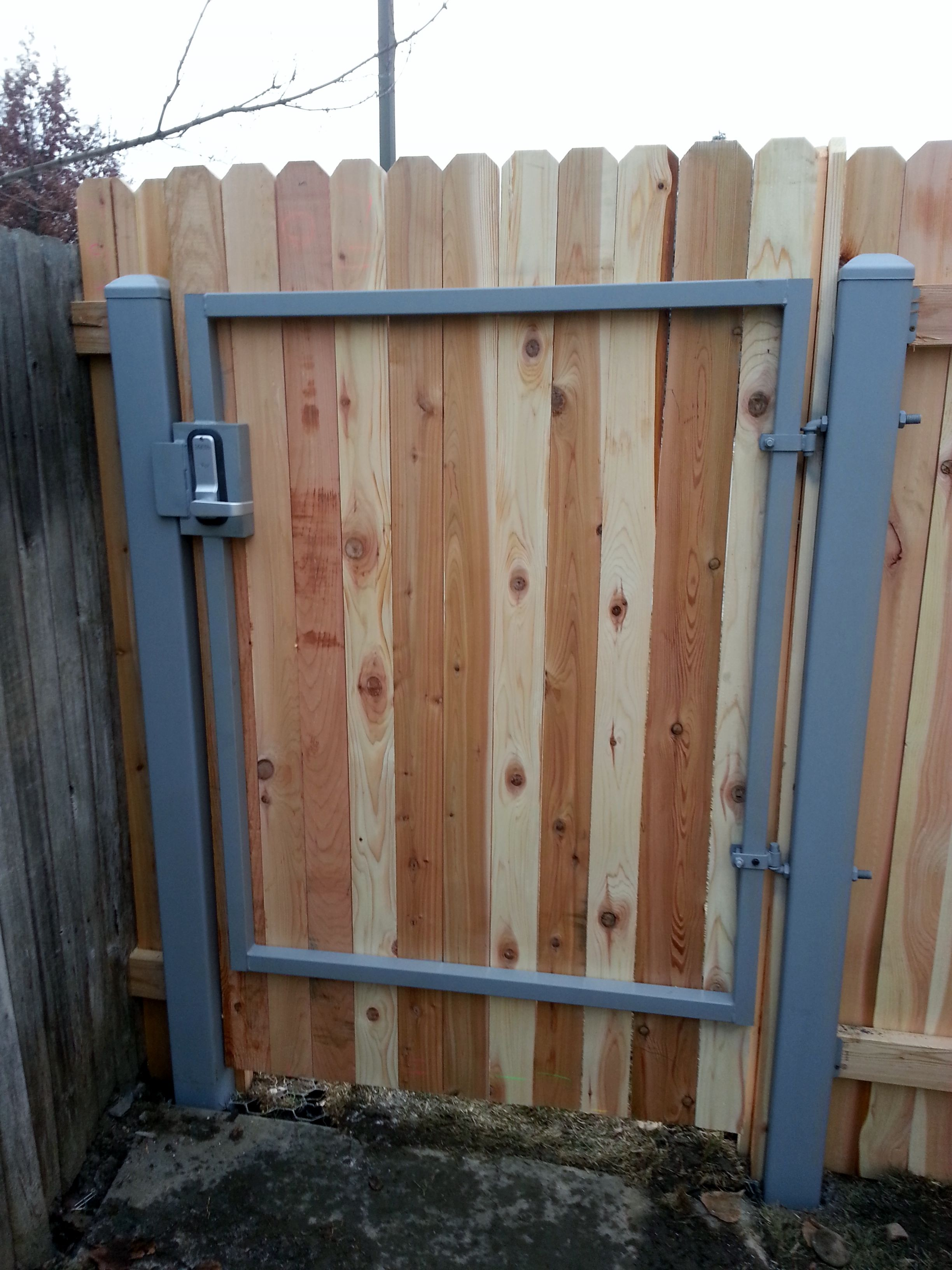 Wooden Gate With Keypad Installed By Frontier Fence