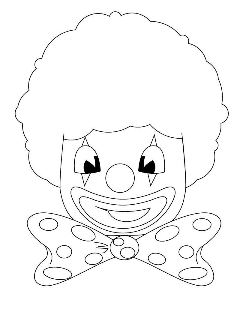 Free Printable Clown Coloring Pages For Kids Kleurplaten Voor Kinderen Voor Kinderen Carnaval