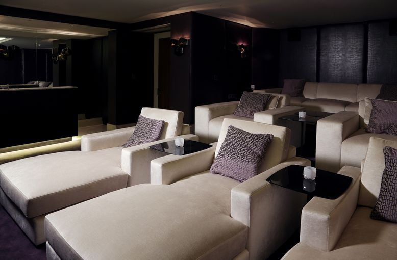 Luxurious Bespoke Chaise Longue Chairs And Sofa In Cinema Room