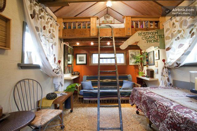 Priv Garden Studio W Sleeping Loft In Portland Casitas
