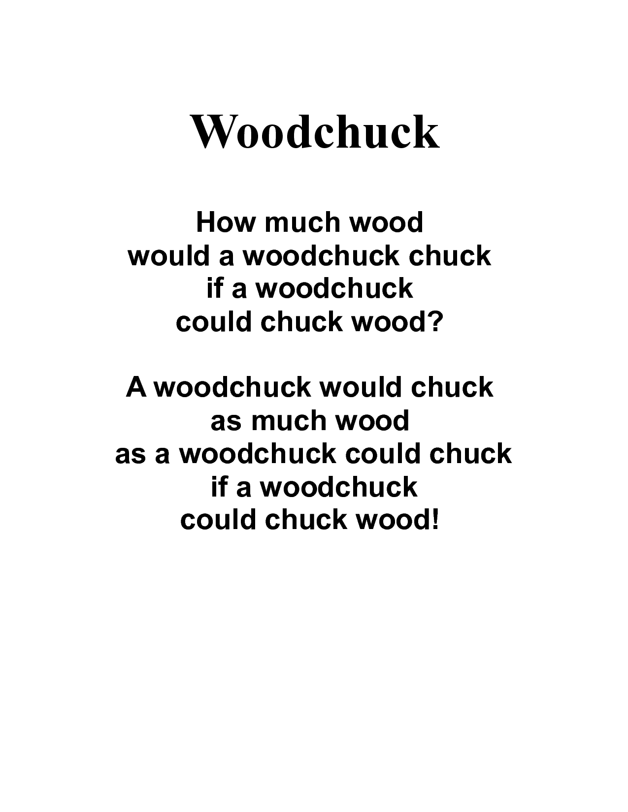 How Much Wood Could A Woodchuck