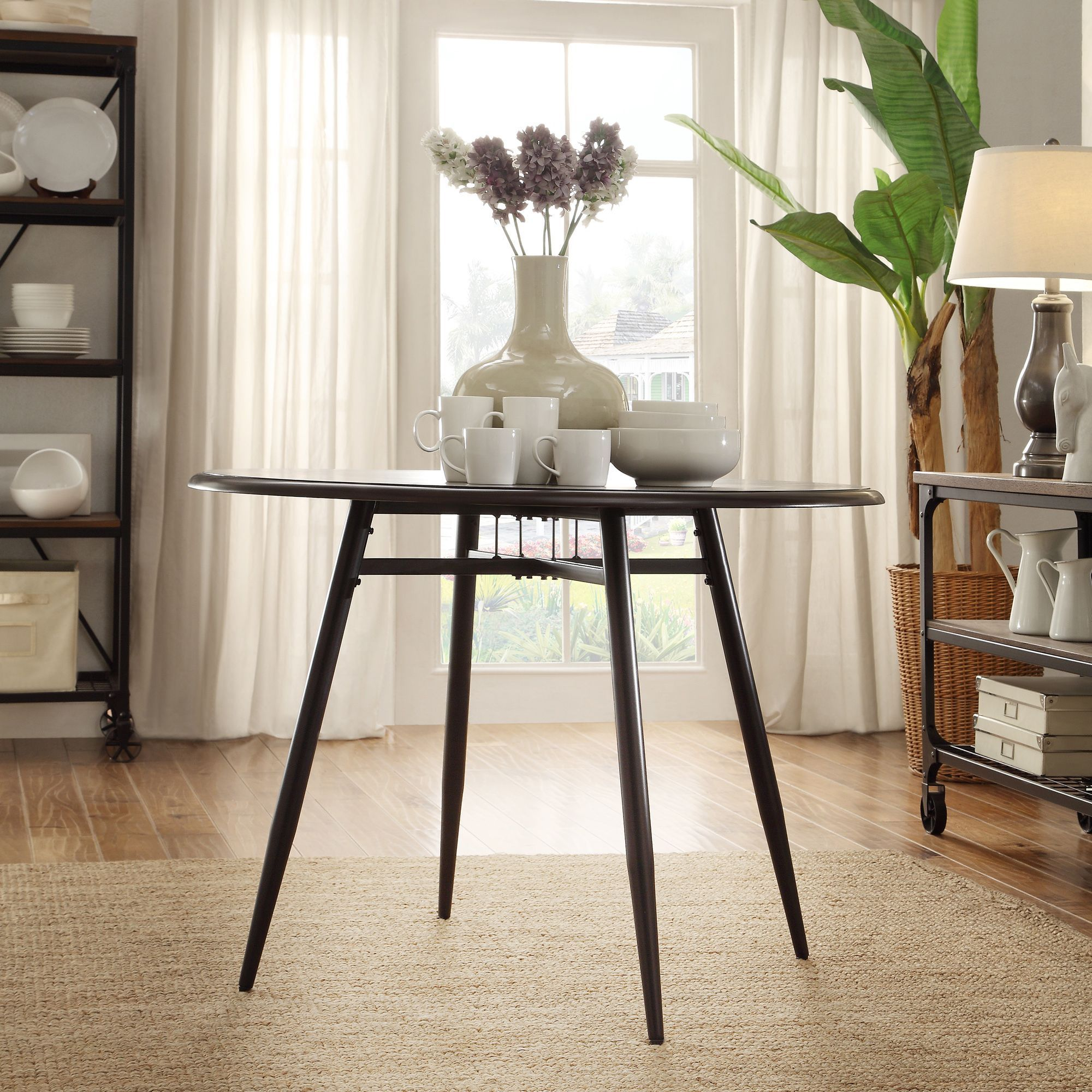 Belita Mid-century Two-tone Modern Wood Dining Table iNSPIRE Q Modern by  iNSPIRE Q