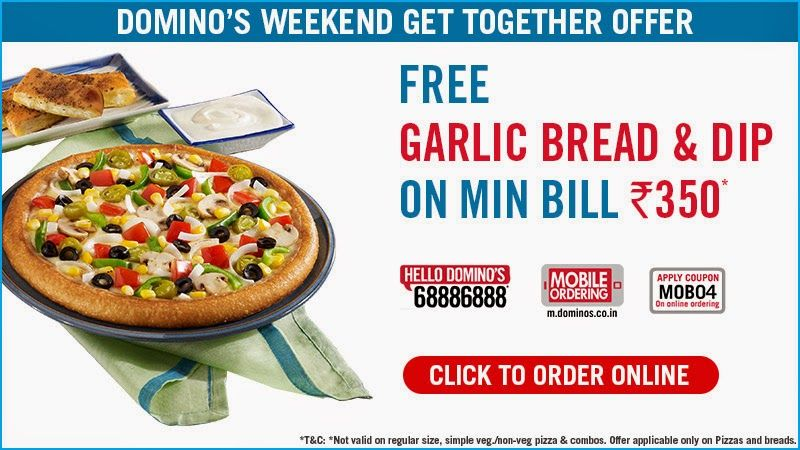 Benefits Of Daily Deals Offers By Our Discount Coupons Enjoy Rishton Ka Time With The Dominos Weekend Get Food Coupon Bread Dip Coupons