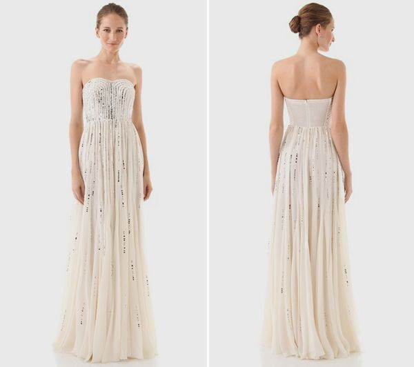 Frayed Strapless Gown by Rebecca Taylor | GLEE | Pinterest ...