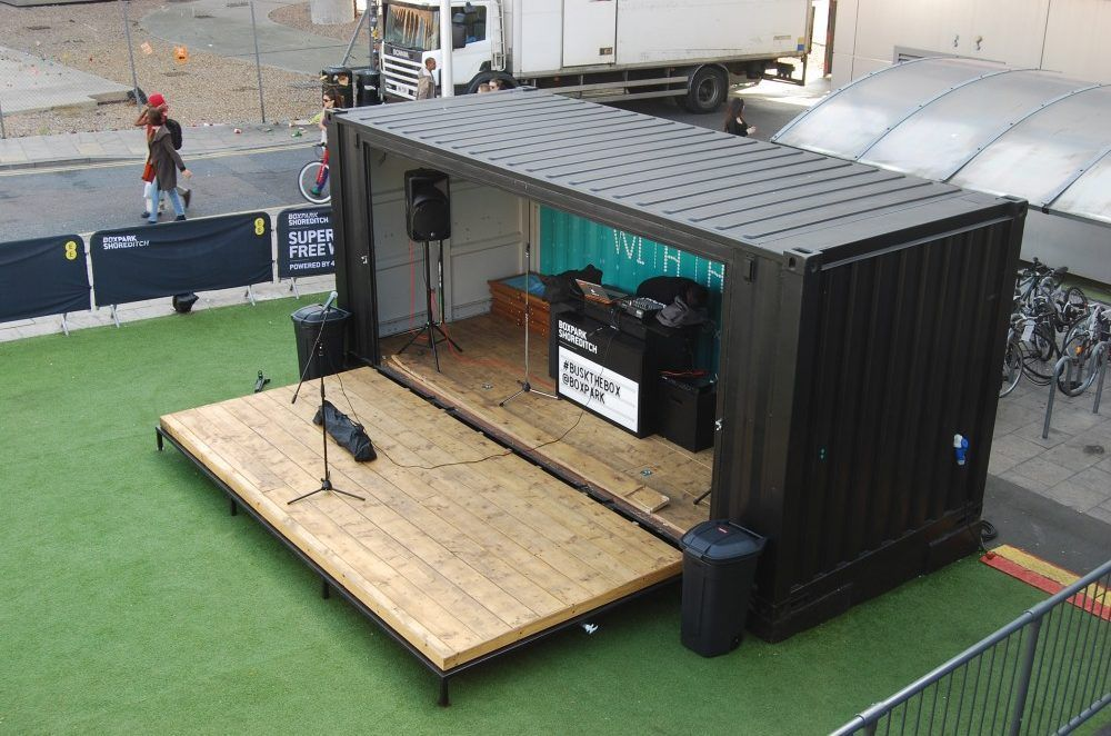 Image result for beer garden pop up shipping container